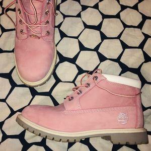 Timberlands Pink Short Boot